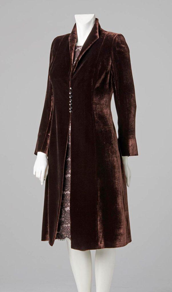 couture design made to measure ladies silk velvet coat