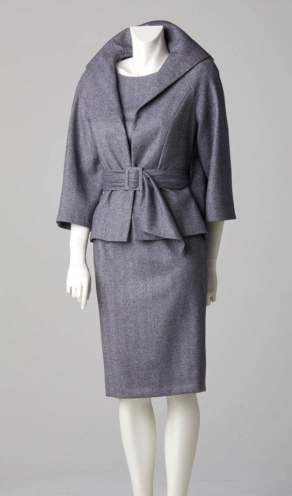 made to measure swing back jacket shift dress herringbone cashmere wool